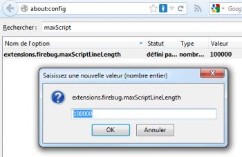 Configuration firebug dans about:config